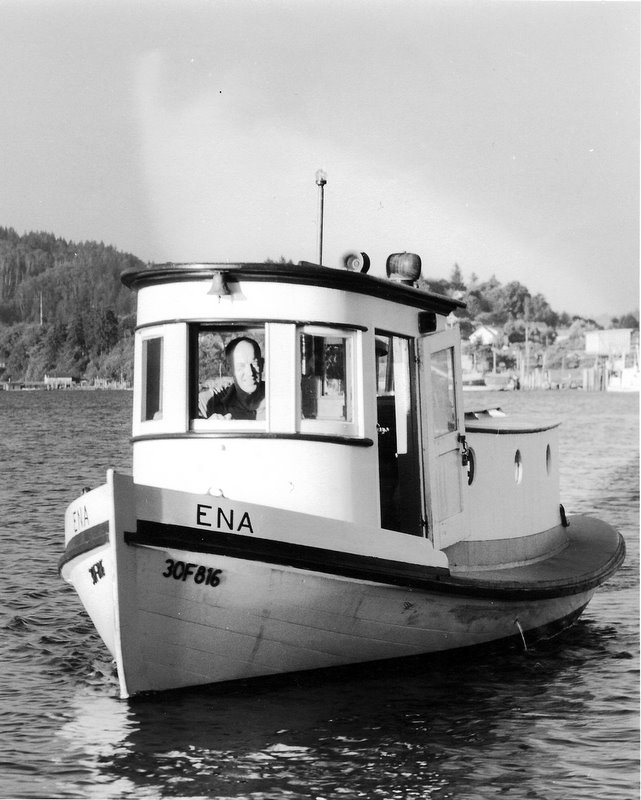 The ENA being towed to